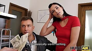 Impressive model gets fucked hard by hunter for a Bitcoin