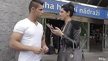 Czech whore fucks a stranger in Prague