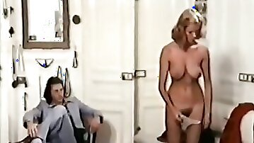 Adorable blonde shows her lover more than just her big tits