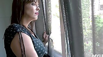 Horny mature woman Montse Swinger is fucked and jizzed by young neighbor