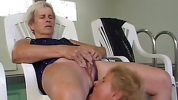 Grandma piss in the mouth of another granny
