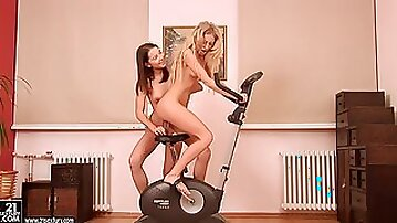 Dildo Insertion With Horny Lesbian Chicks