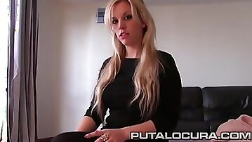 Amateur blond hair girl sucking and fucking