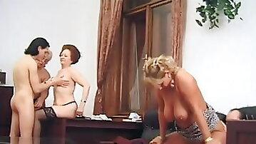 Kinky mature orgy