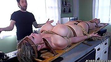 Dude ass fucking fucks tied up full-bosomed Mature
