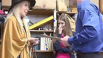 Granddaughter (Samantha Hayes) And Grandmother (Erica Lauren) Duo Fuck LP Officer After Getting Caught
