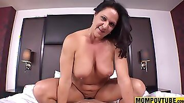 Sodomized Copulated and Hoochie-Coochie Creampie GILF POINT-OF-VIEW HQ  - fellatio