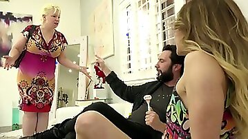 Filthy young chick Alana Summers hooks up with her bearded stepdad