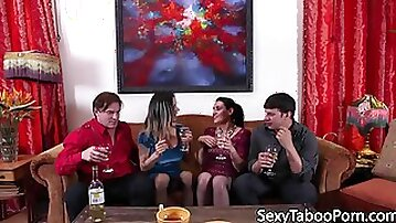 Storyline MILFs fucked hard in foursome
