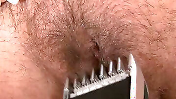 Busty milf shaves her pussy in hardcore solo video
