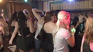 Horny Girls Enjoy Getting Their Mouth And Pussies Filled At The Party