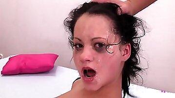 Teen Caroline rough face fuck video