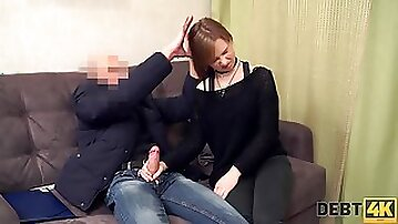 Teen with plump ass Alice Klay is fucked and jizzed by one kinky man