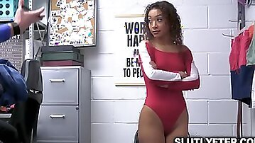 Pervy officer fucks sweet tight ass