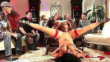 Horny woman spread her legs wide open