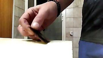 Reverse stealth bottom breaks condom