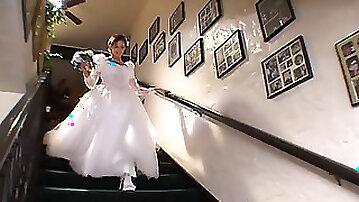 Bride & a hottie share a big cock