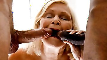 Big tittied oldie woman Lacey got huge cocks she puts in her mouth and pussy
