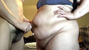Bbw tummy button fuck compilation