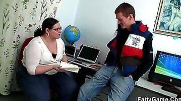 Game BBW - Geography teacher gets explored - hardcore