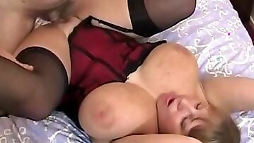 Basque Fuck with 32HH housewife CurvyClaire