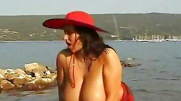 Polish busty naked at lake