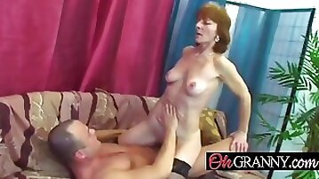 Slender granny inviting hard working young men for sex