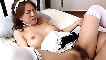 Slutty Asian maid needs to fuck if she wants to keep her job