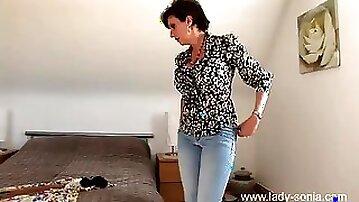 Goddess milf gets dressed